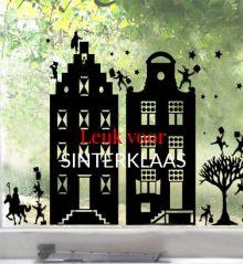 Raamstickers Sinterklaastafereel