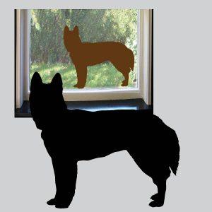 Raamsticker Hond
