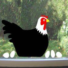 Raamsticker Kip met eieren