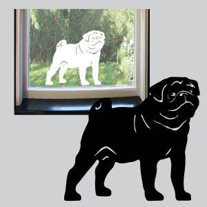 Raamsticker Puggy