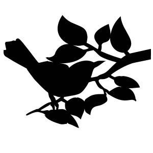 Raamsticker Vogel op tak