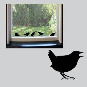 Raamstickers Vensterbankvogeltjes