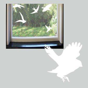 Raamstickers Vliegende Vogeltjes