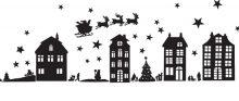 Raamstickers Kerst-Tafereel