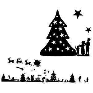 Raamstickers Kerstfiguren