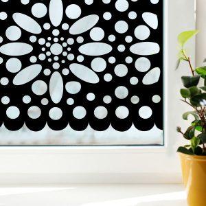 Raamfolie Fleur zwart