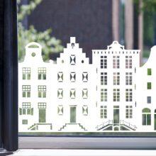 Raamfolie aan de Amsterdamse Grachten wit