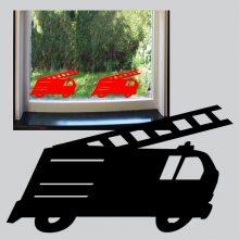 Raamsticker Brandweerauto