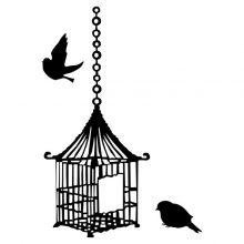 Raamsticker Chines Vogelkooi