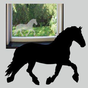 Raamsticker Fries Paard