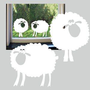 Raamsticker Funny Sheep