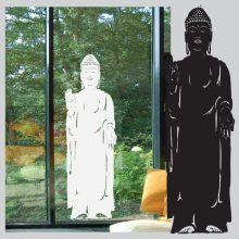 Raamsticker Staande Boeddah