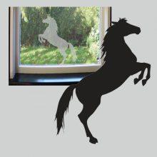 Raamsticker Steigerend Paard
