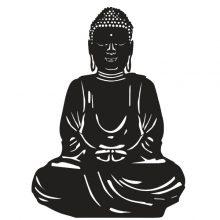 Raamsticker Zitende Boeddah