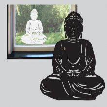Raamsticker Zittende Boeddah