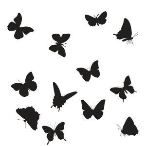 Raamstickers 12 Vlindertjes