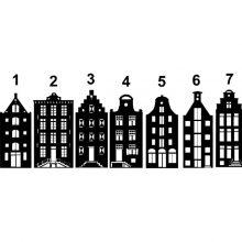 Raamstickers Aan de Amsterdamse Grachten