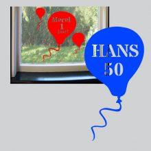 Raamstickers Ballon met Tekst