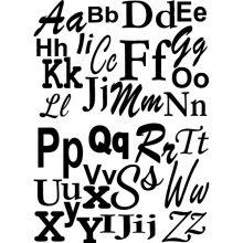 Raamstickers Letterset