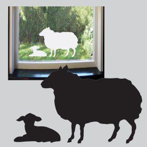 Raamstickers Schaap met lam