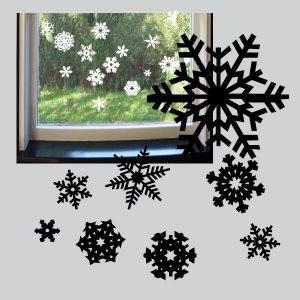Statisch hechtende sneeuwvlokjes