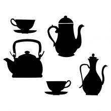 Raamstickers Tea-Time