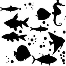 Raamstickers Vissen