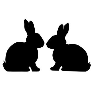 raamsticker-konijn