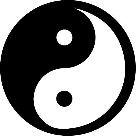 Raamsticker ying yang raamstickers van lipdus for Deco ying yang