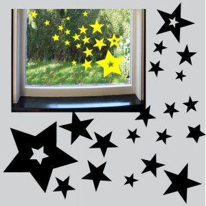 raamstickers-sterrenregen