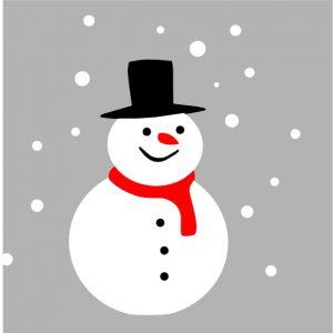 Raamsticker Sneeuwpop