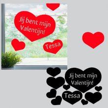 Raamstickers valentijnshartjes