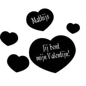 Valentijnhart met eigen naam