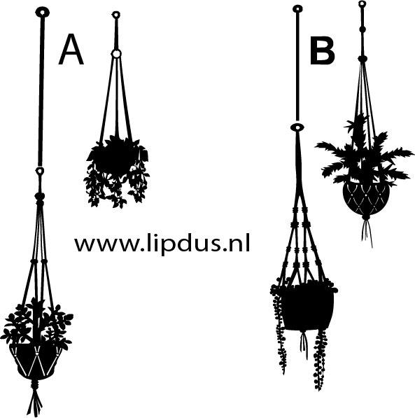 Raamstickers Hangende Plantjes