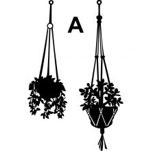 Raamstickers Hangende Plantjes A