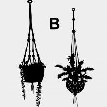 Raamstickers Hangende Plantjes B