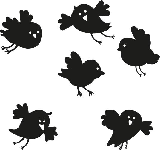 Raamstickers Birdys