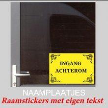 Raamstickers Naamplaatjes
