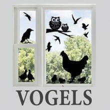 Raamstickers van vogels