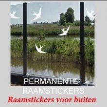 Raamstickers Permanente Vogelstickers