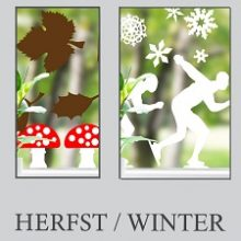 Raamsticker Herfst / Winter