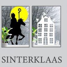 Raamstickers Sinterklaas